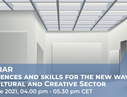"""""""Experiences and skills for the new wave of the Cultural and Creative Sector"""" – June 14, 4pm CET"""